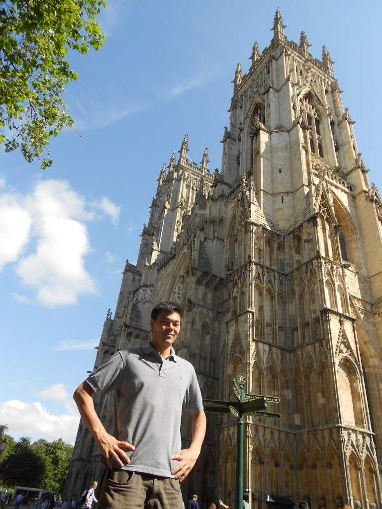 David De Clercq in front of York Minster