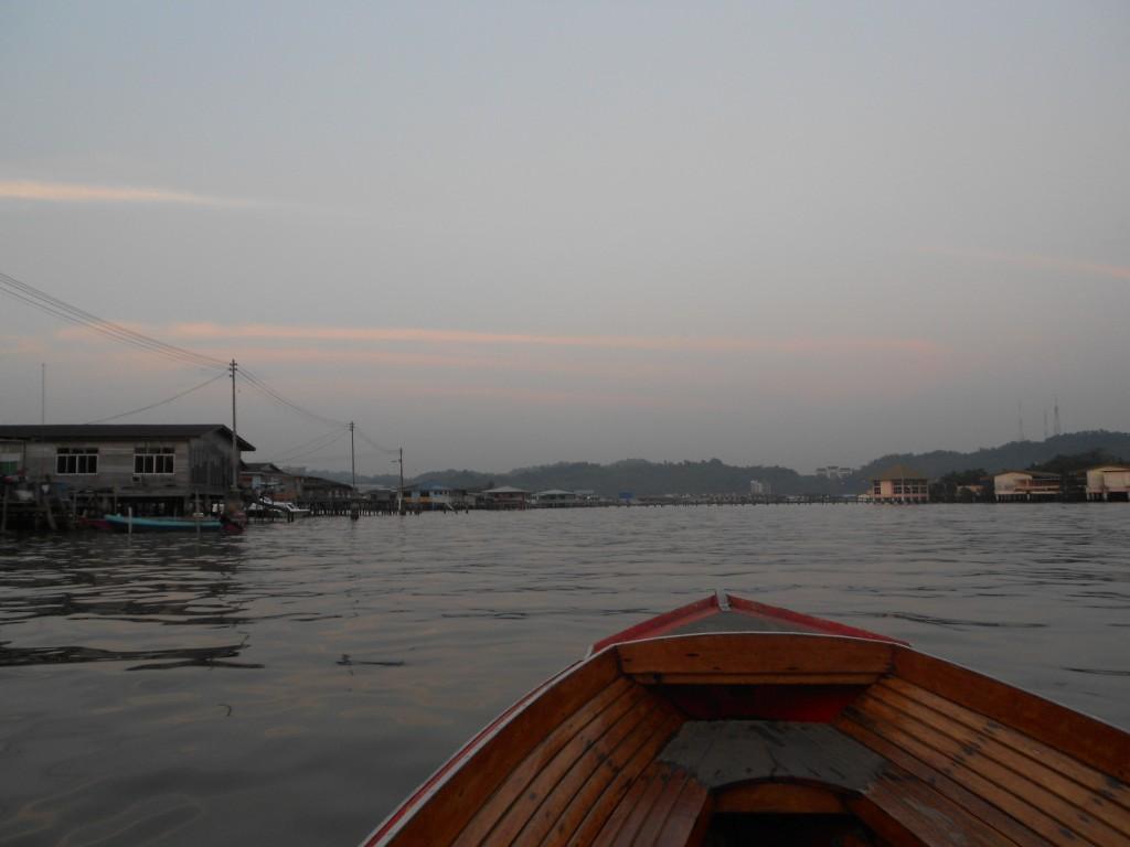 Kampung Ayer on a boat