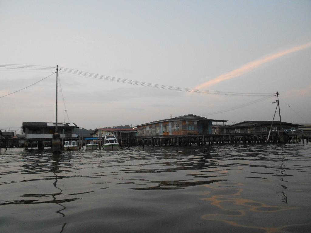 Kampung Ayer houses and boats