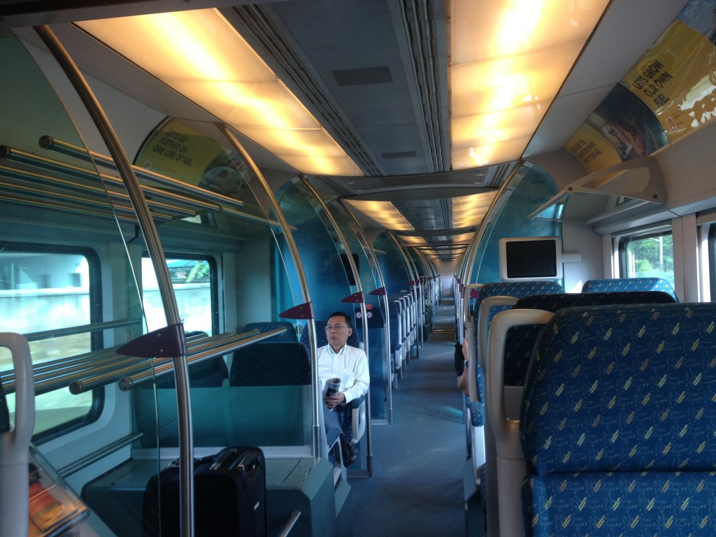 The train is the fastest option to the airport and also has wifi aboard!