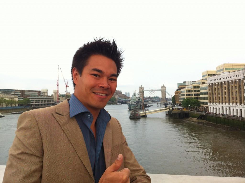 Me in front of London Bridge