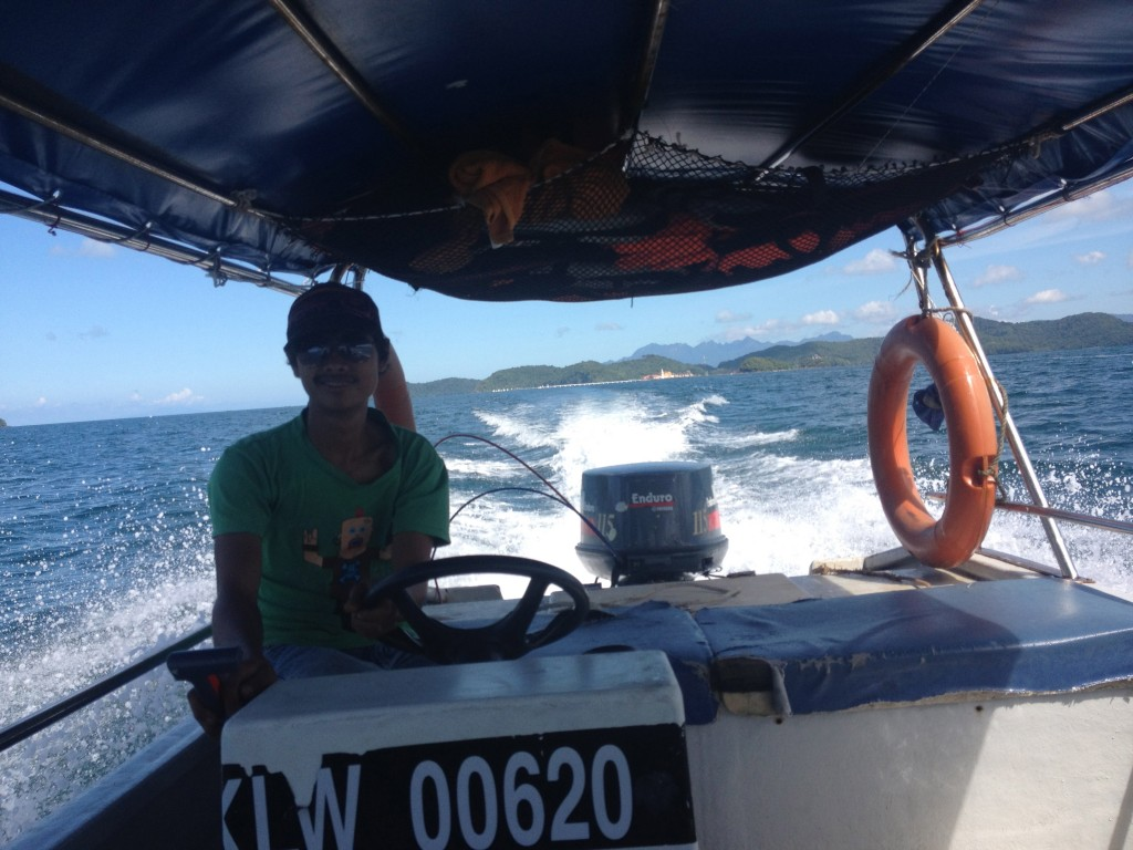 My driver was all smiles until we were lost at sea together...