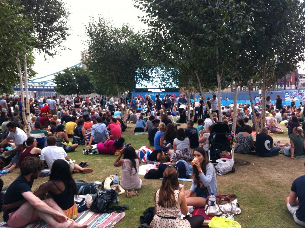Potters Fields Park Crowds