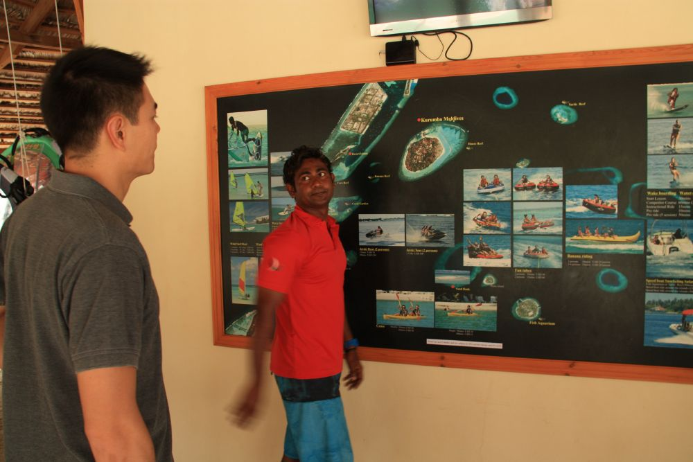 Learning about the extensive list of activities available! Jet ski tour sounds like fun :) The scuba diving center is right next door, which offers great dives for all experience levels.