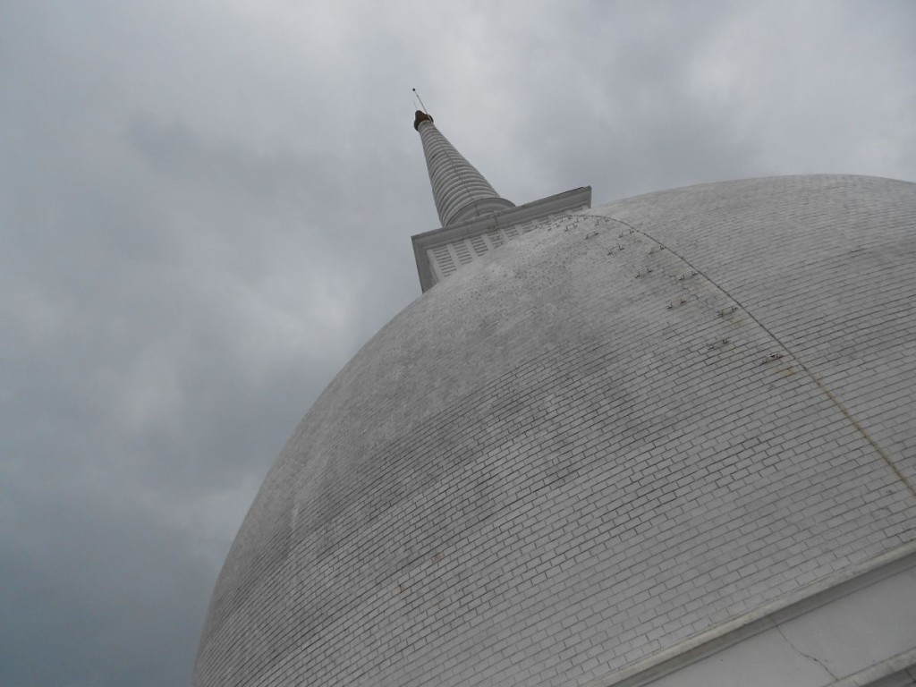 The Maha Stupa sits at the top of the Mihintale. At this angle it looks a bit like one of those turrets from Star Wars.