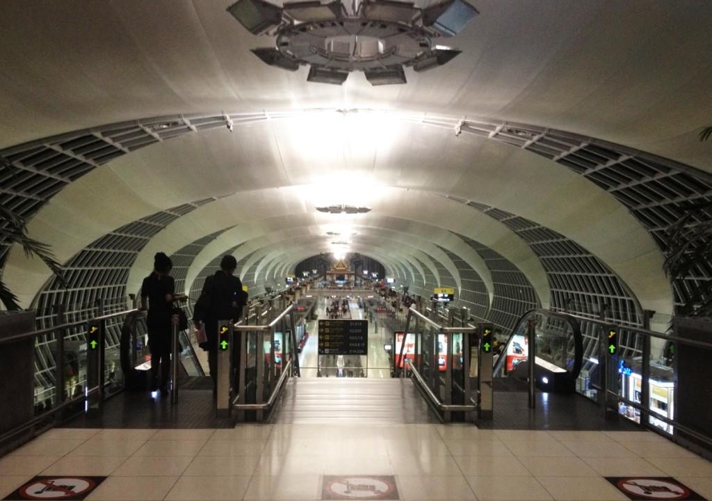 Rail terminal... futuristic design.