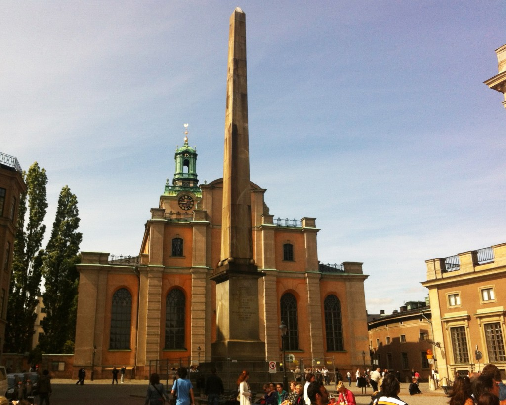 Stockholm Cathedral from Slottsbacken.