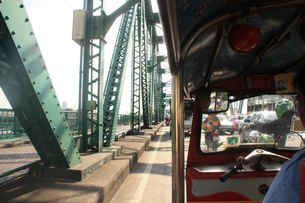 A long tuk tuk ride was not the most comfortable option, though much faster than a taxi!