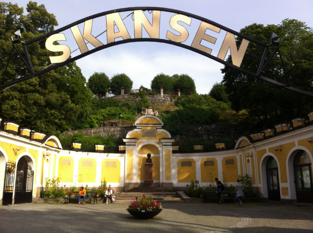 The entrance at Skansen! Looks like an oldschool amusement park.