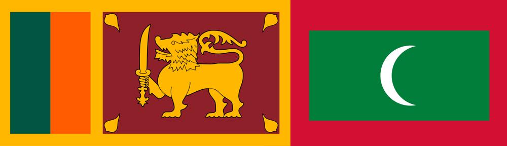 srilanka maldives flag