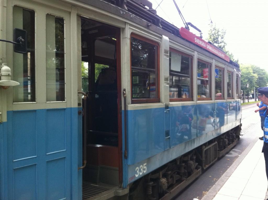 Took an operational vintage tram back!