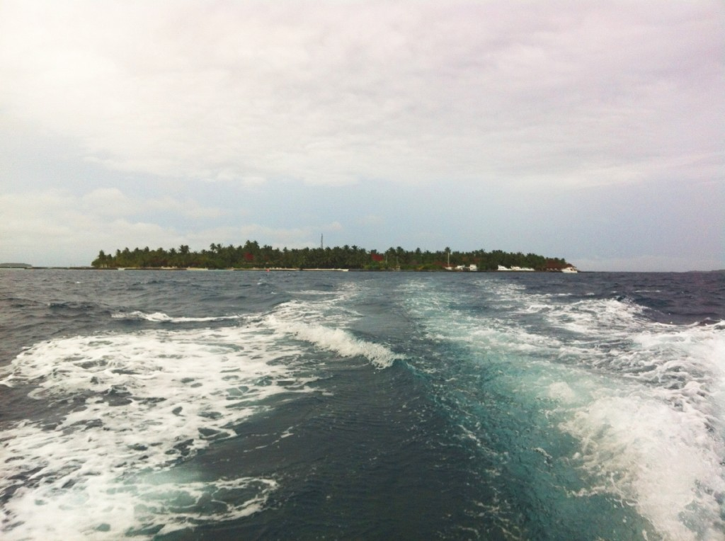 View of Kurumba Island from the boat to Male.