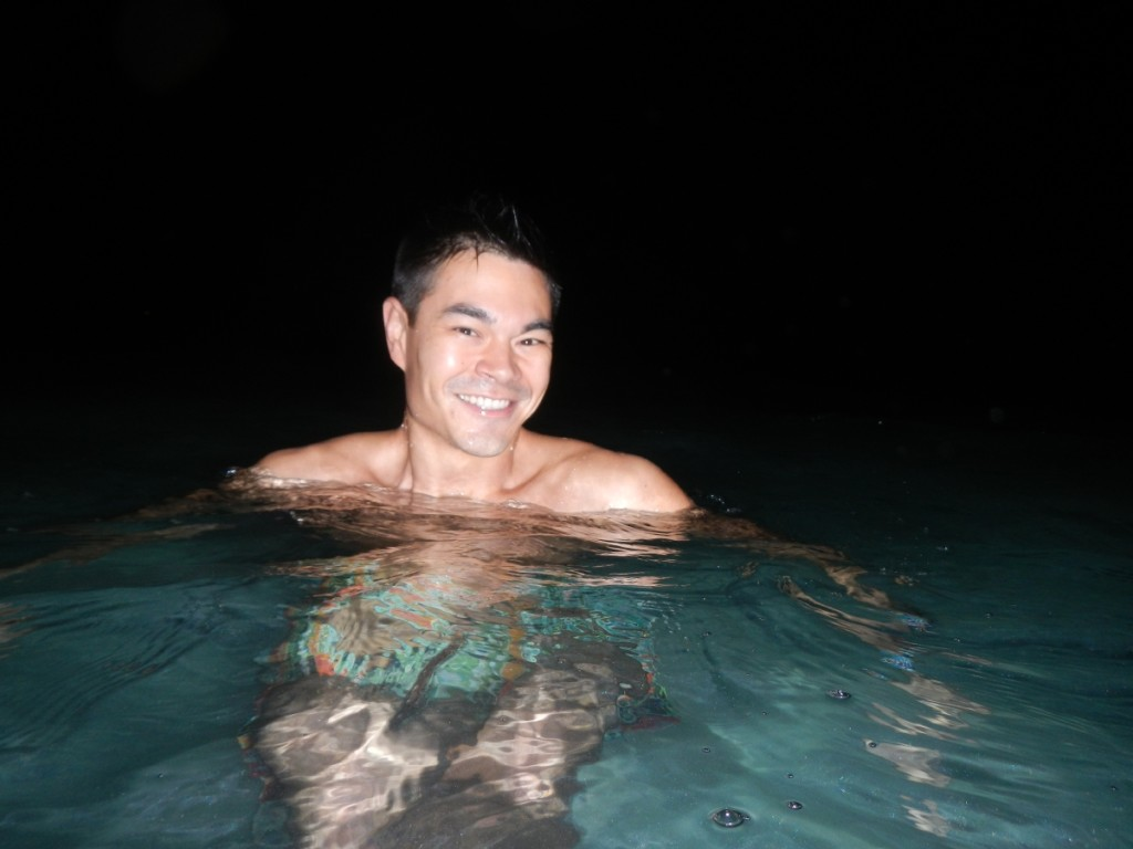 It doesn't get any more exciting than a night swim in the Maldives.