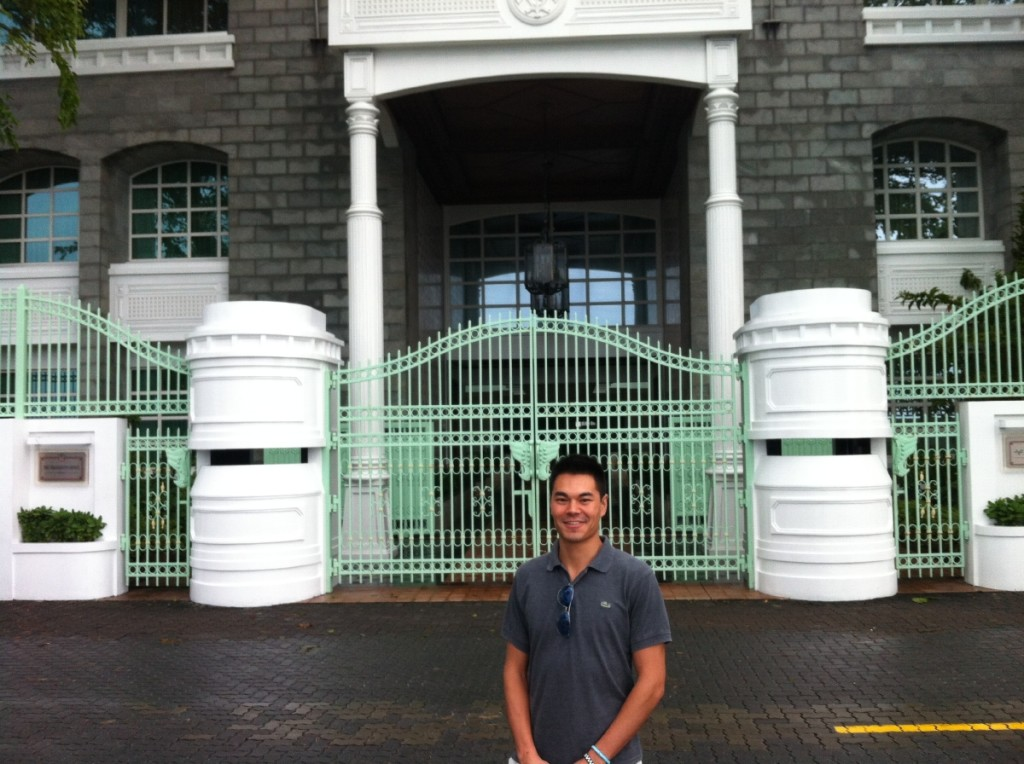"We saw this building in the movie ""The Island President""."