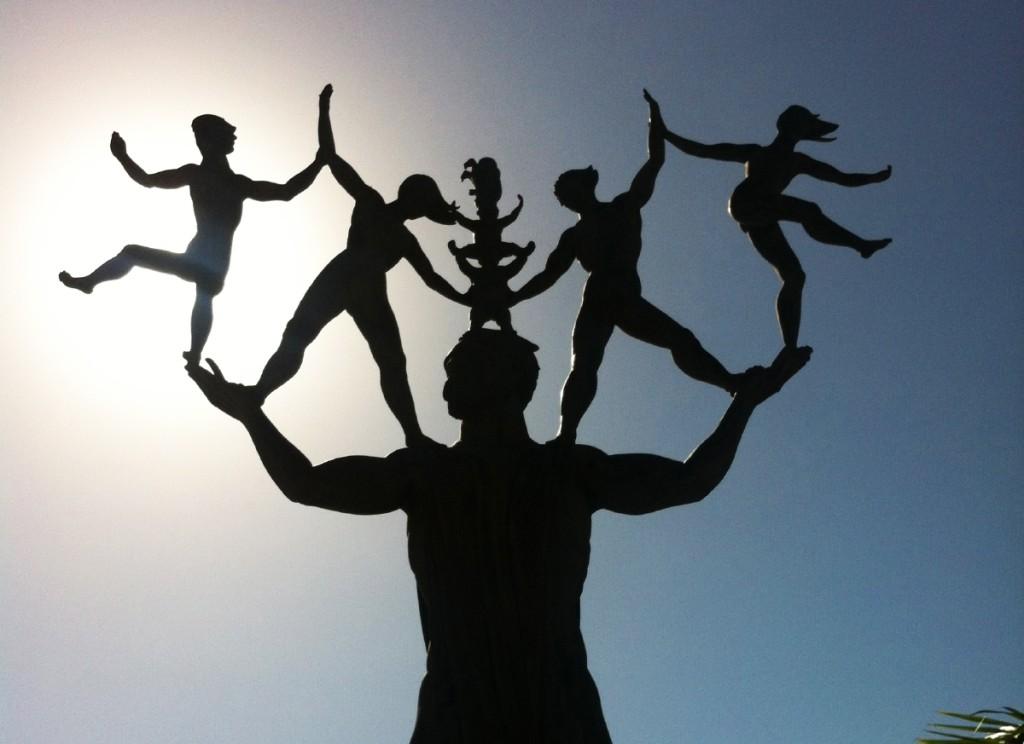 "Monument of Eugenio María de Hostos made in 1998 to remember ""El Ciudadano de América"" (The Citizen of the Americas), a teacher and influencer of Central and South America."